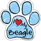 I love my Beagle (pawprint)